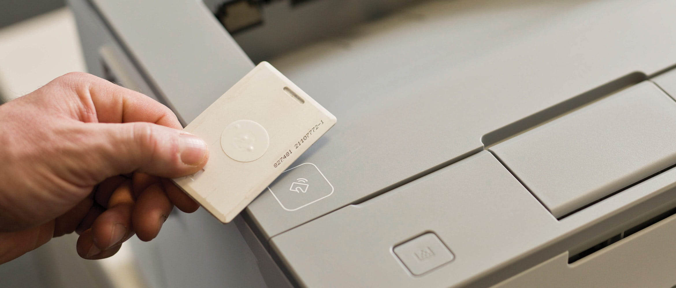 Person scanning pass for secure printing