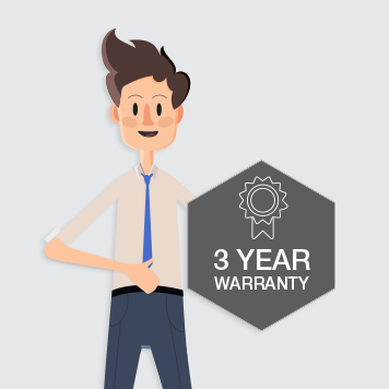 All in Box in front of warranty banner