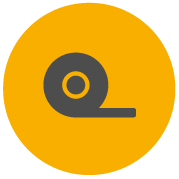 Icon for Pro-Tape showing a tape unrolling from the roll