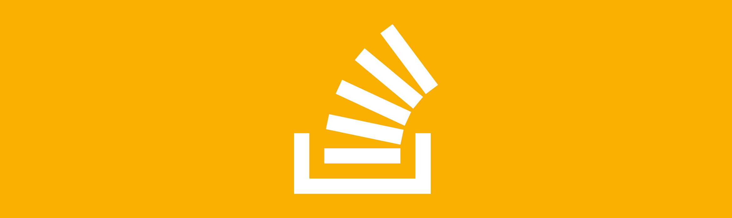 white overflowing paper stacks icon against an amber background