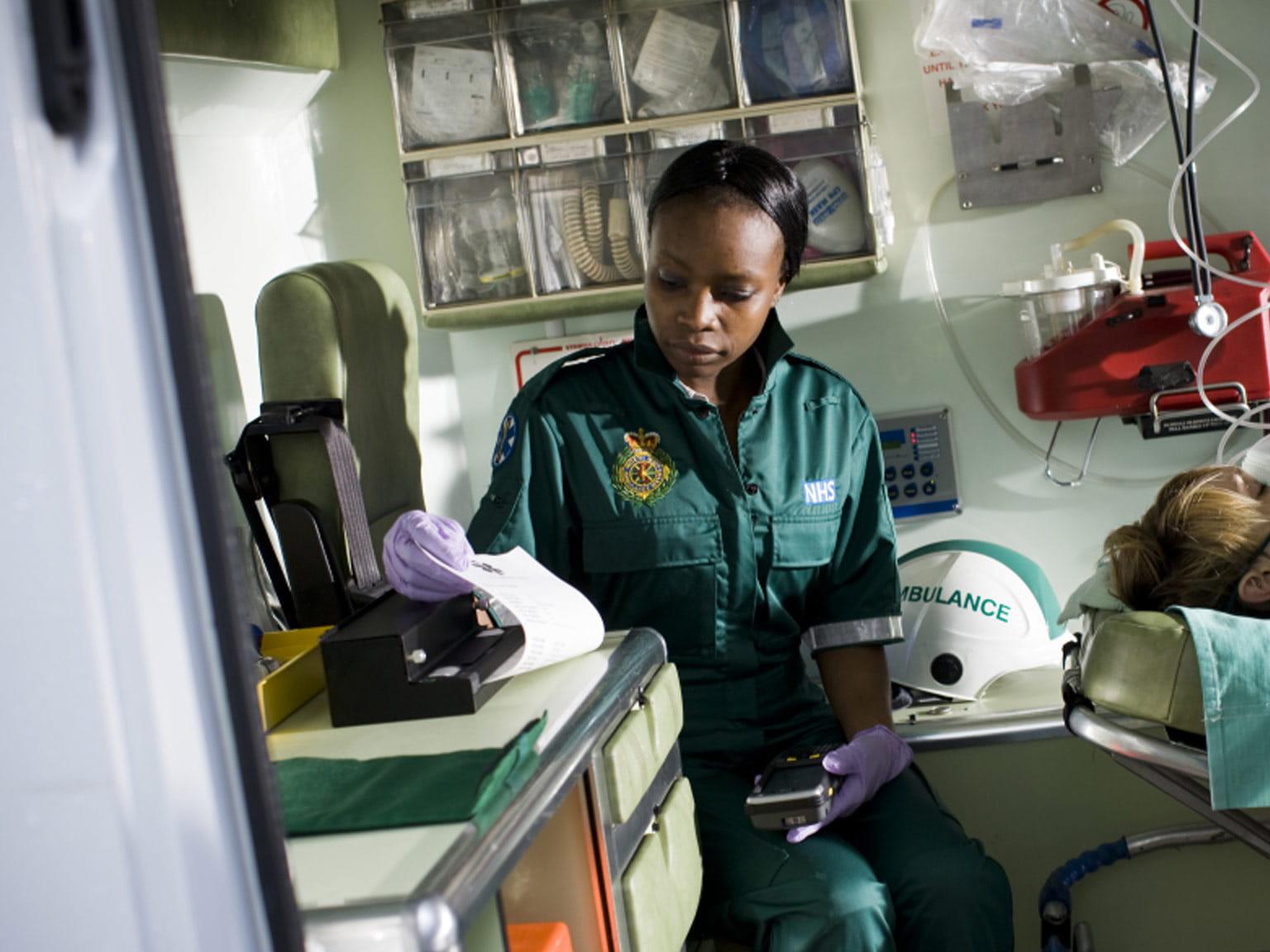 Pj printing document in ambulance