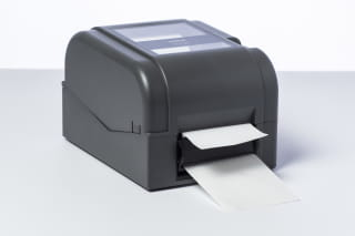 Brother PA-LP-003 automatic label peeler installed on a TD-4T series label printer