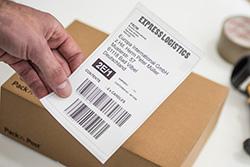 "QL-1100 label showing 4"" (101.6mm) print width"
