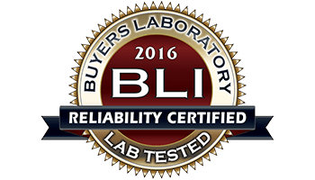 Awards - BLI Reliability Certified 2016