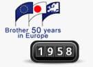 1958 Eerste vestiging van Brother in Europa