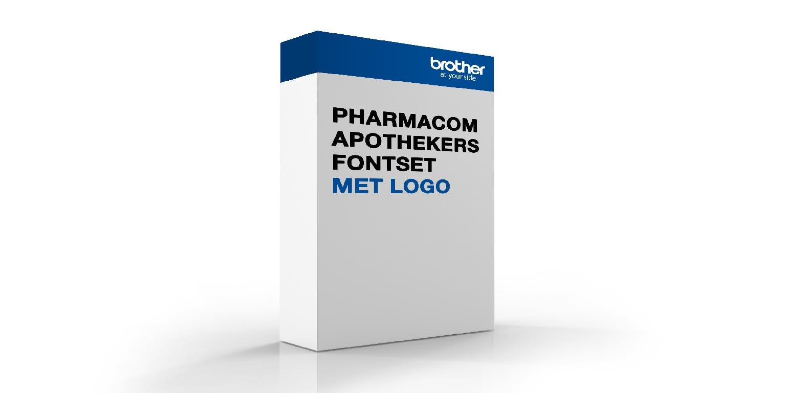 Pharmacom apothekers fontset en logo