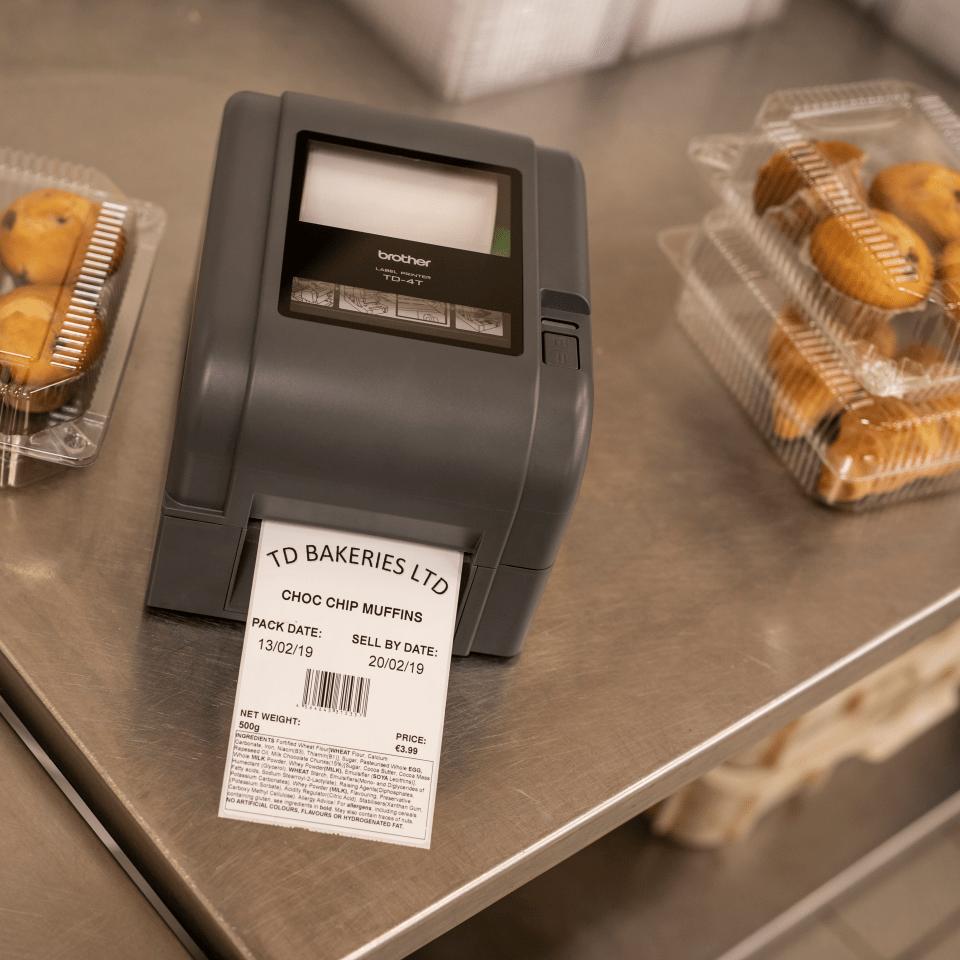 TD-4420TN Professionele Thermo-transfer labelprinter met bekabelde netwerkverbinding 8