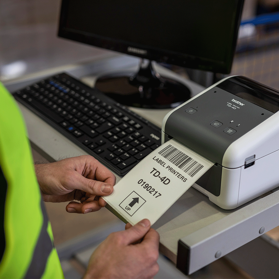 TD-4520DN Professionele desktop labelprinter met bekabelde netwerkverbinding 5