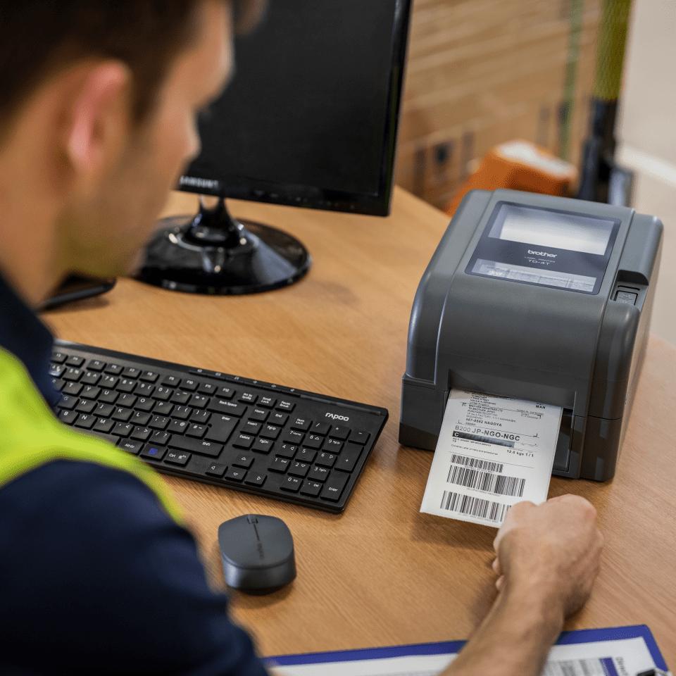 TD-4520TN Professionele Thermo-transfer labelprinter met bekabelde netwerkverbinding 6