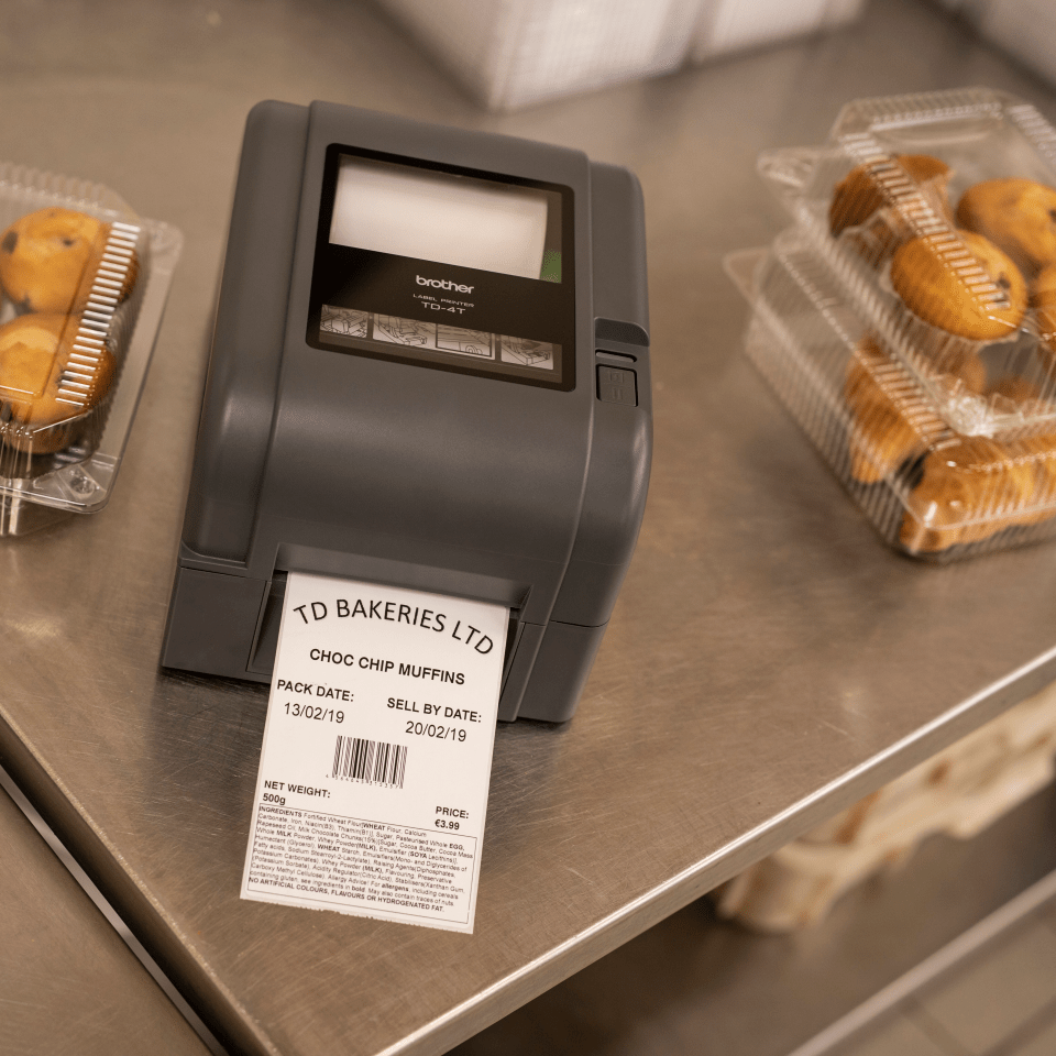 TD-4520TN Professionele Thermo-transfer labelprinter met bekabelde netwerkverbinding 8
