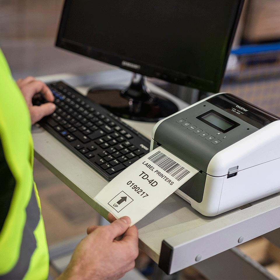 TD-4550DNWB Professionele desktop labelprinter met draadloze/bekabelde netwerkverbinding en Bluetooth 7