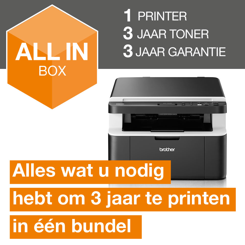 Draadloze all-in-one zwart-witlaserprinter DCP-1612W All-in-Box bundel 2