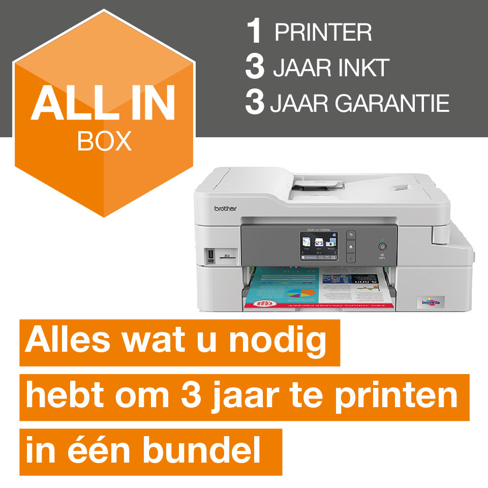 Draadloze inkjetprinter DCP-J1100DW All-In-Box bundel 2