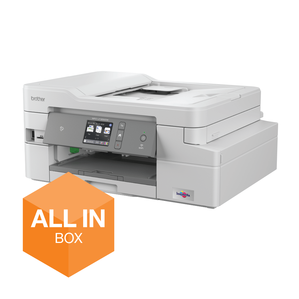 MFC-J1300DW All-in-Box bundel Draadloze inkjetprinter