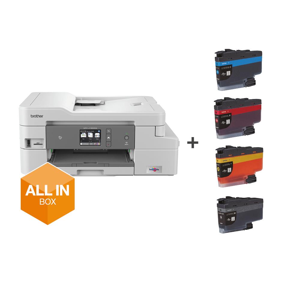 Draadloze inkjetprinter MFC-J1300DW All-in-Box bundel