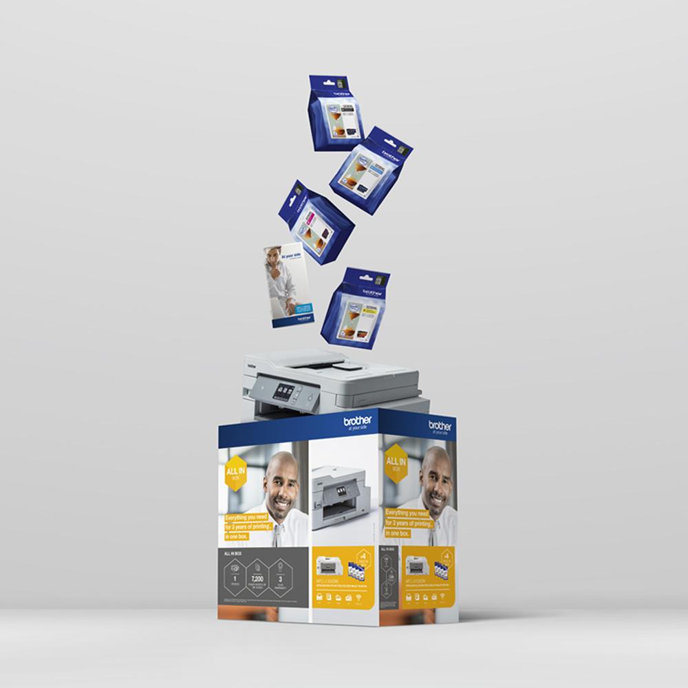 Draadloze inkjetprinter MFC-J1300DW All-in-Box bundel 5