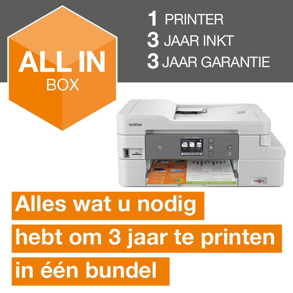 Draadloze inkjetprinter MFC-J1300DW All-in-Box bundel 2