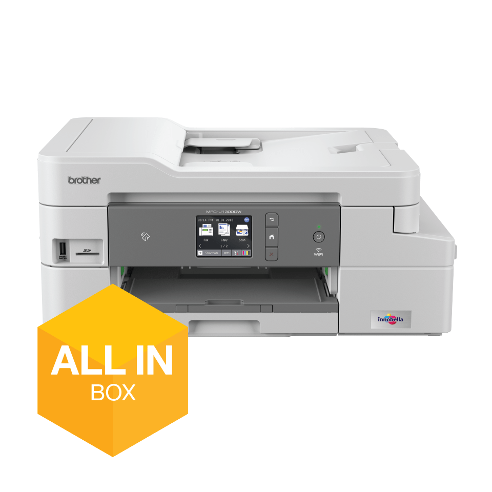 MFC-J1300DW All-in-Box bundel Draadloze inkjetprinter 5