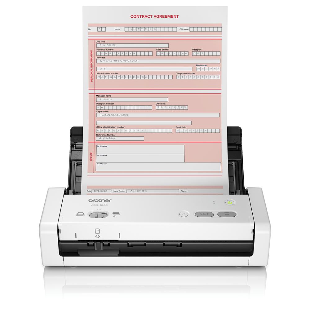 ADS-1200 Compacte, dubbelzijdige documentscanner