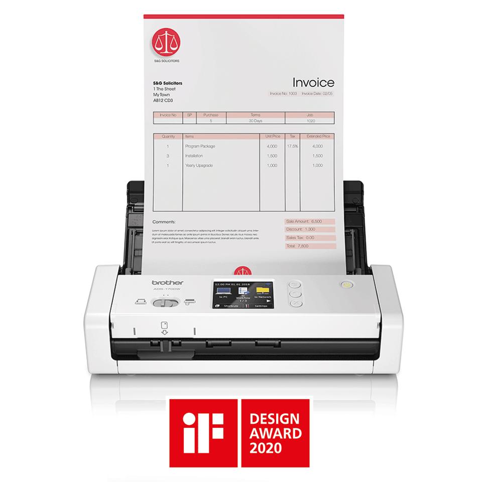 ADS-1700W Compacte, draadloze documentenscanner 4
