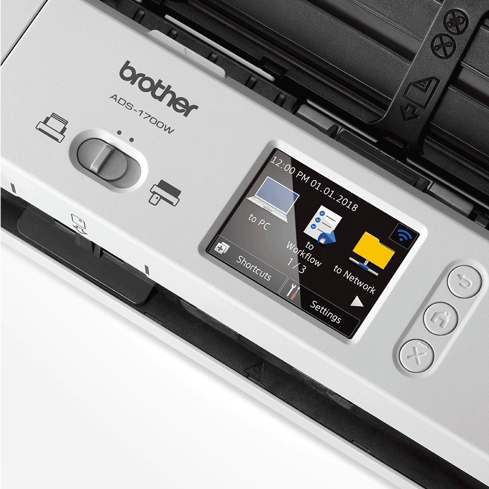 ADS-1700W Compacte, draadloze documentenscanner 8