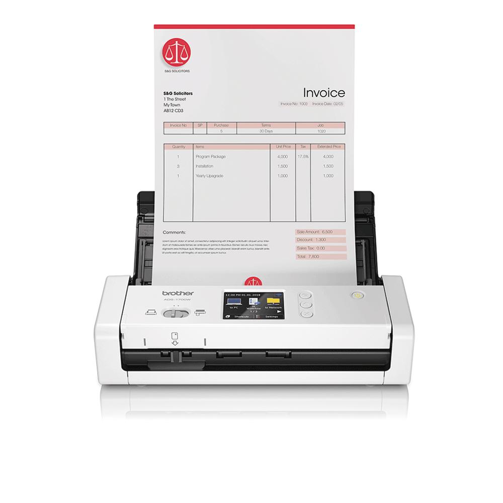 ADS-1700W Compacte, draadloze documentenscanner