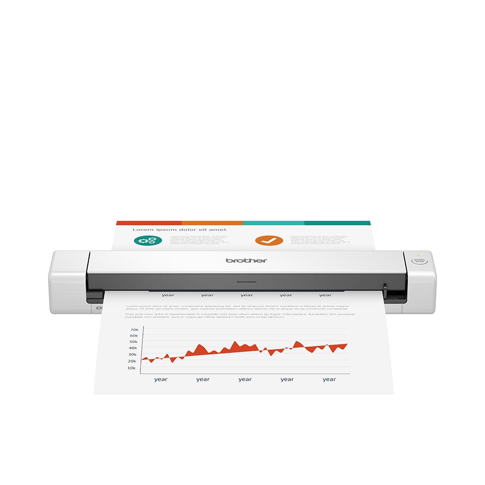 DS-640 Compacte, mobiele documentscanner voor enkelzijdig scannen