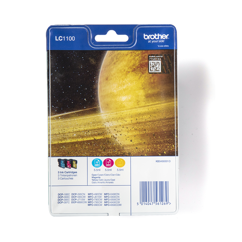 Originele Brother LC-1100RBWBP inktcartridge voordeelverpakking