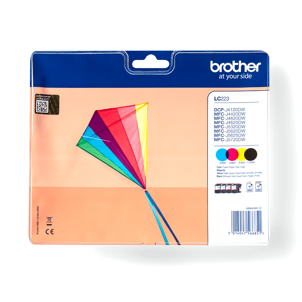 Originele Brother LC-223VALBP inktcartridge  2