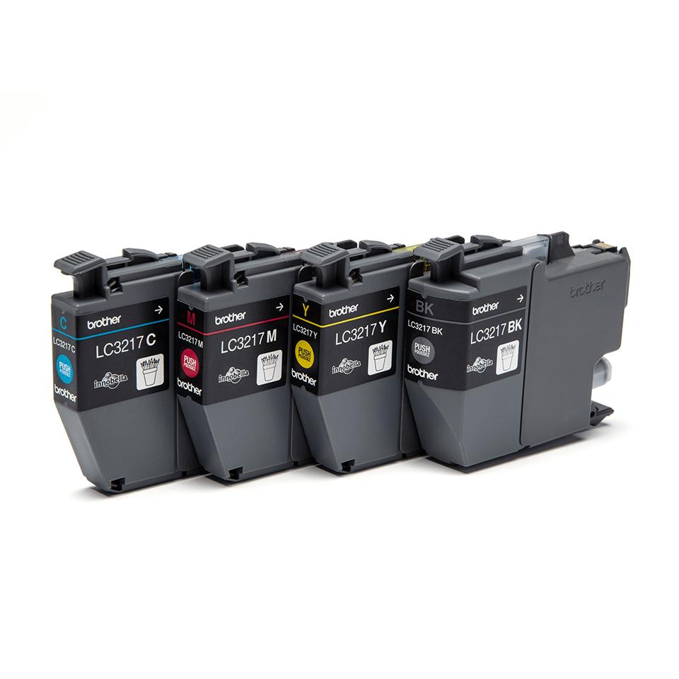 Originele Brother LC-3217VAL voordeelverpakking met inktcartridges zwart, cyaan, magenta en geel