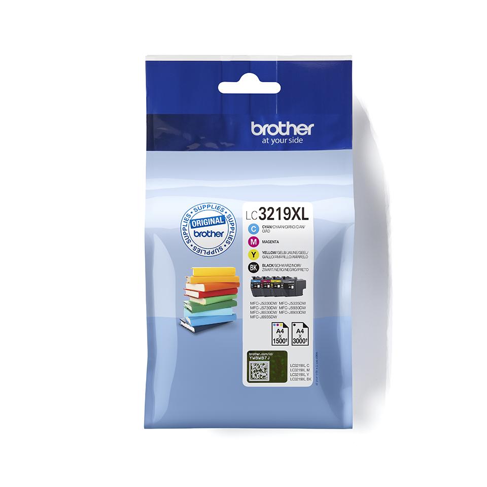 Originele Brother LC-3219XLVALBP inktcartridge voordeelverpakking.