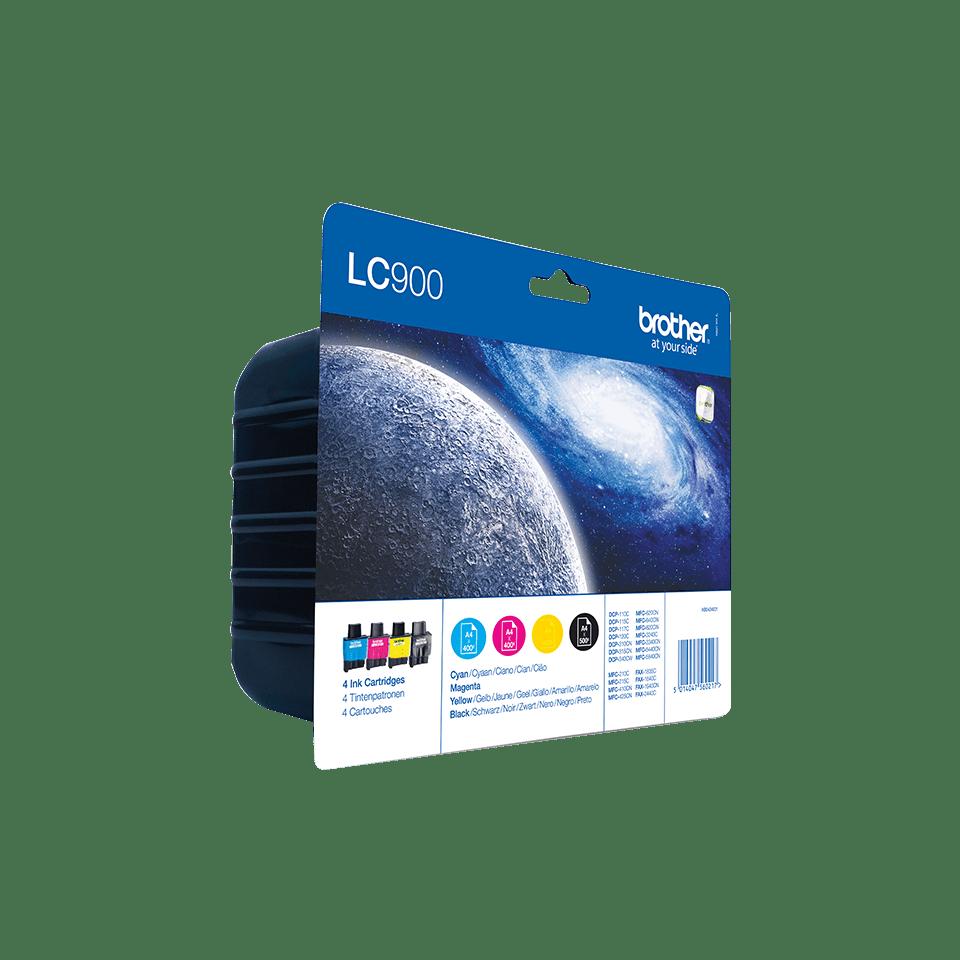 Originele Brother LC-900VALBP inktcartridge voordeelverpakking.