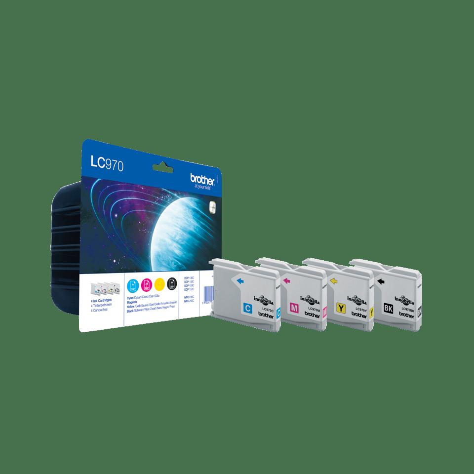 Originele Brother LC-970VALBP inktcartridge voordeelverpakking.  2
