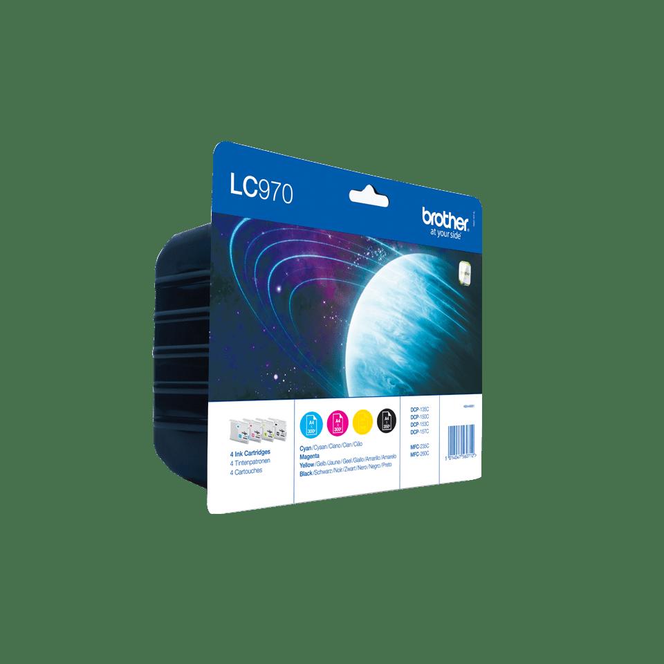 Originele Brother LC-970VALBP inktcartridge voordeelverpakking.