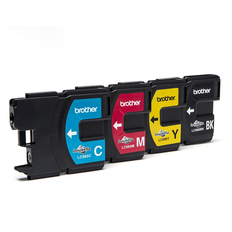 Originele Brother LC-980VALBP inktcartridge voordeelverpakking.  2