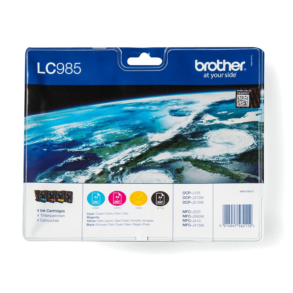 Originele Brother LC-985VALBP inktcartridge voordeelverpakking