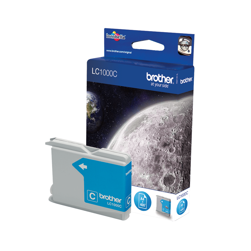 Originele Brother LC-1000C cyaan inktcartridge 2