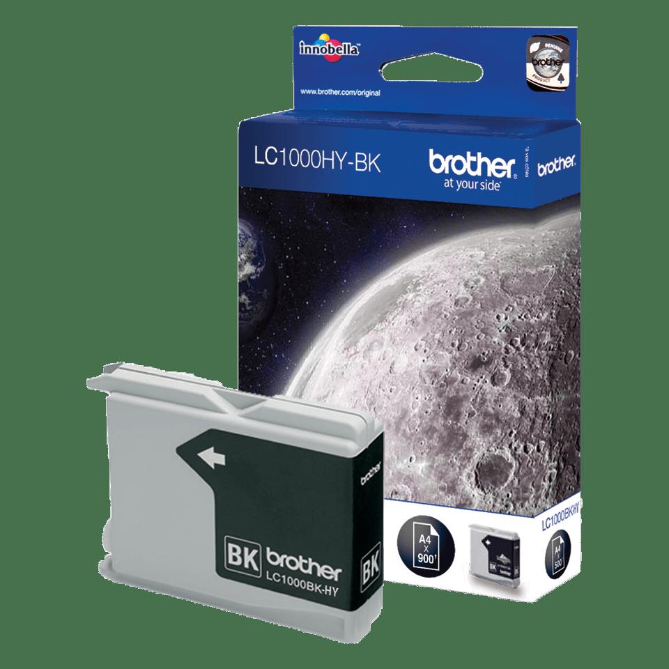 Originele Brother LC-1000HYBK zwarte inktcartridge met hoge capaciteit
