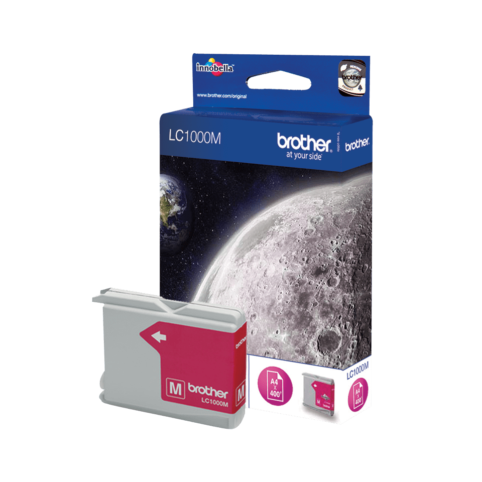 Originele Brother LC-1000M magenta inktcartridge 2