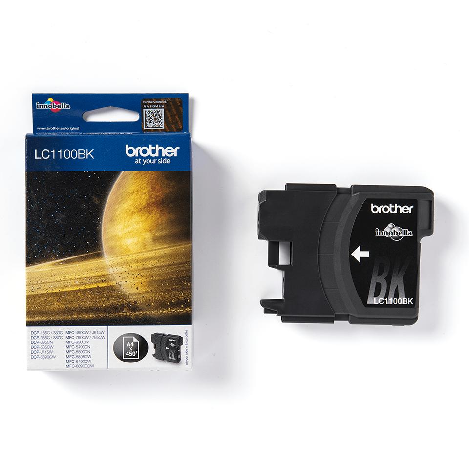 Originele Brother LC-1100BK zwarte inktcartridge