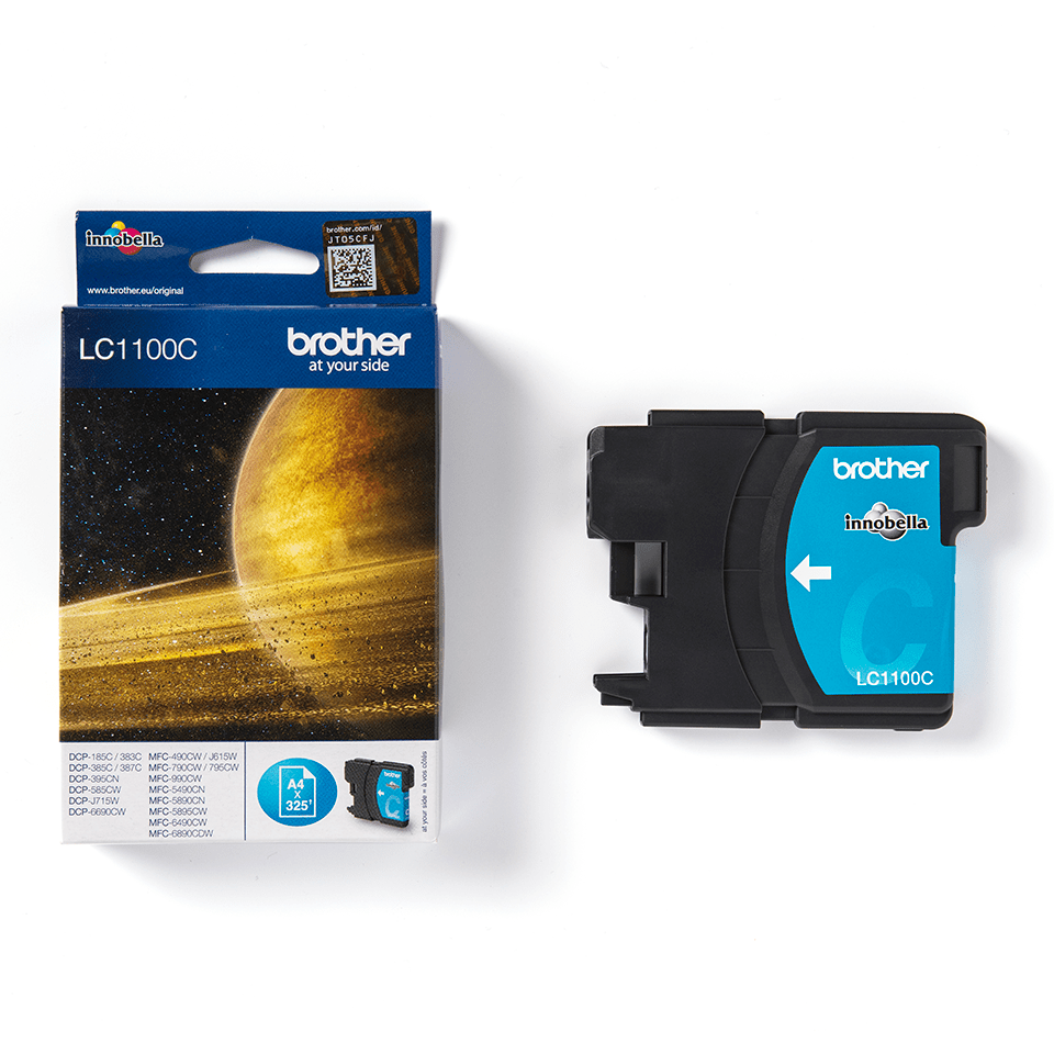 Originele Brother LC-1100C cyaan inktcartridge 2