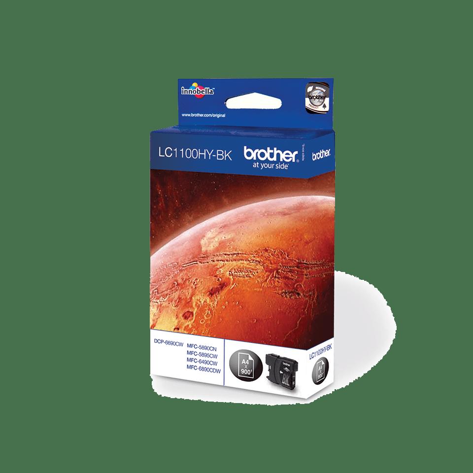 Originele Brother LC-1100HYBK zwarte inktcartridge met hoge capaciteit