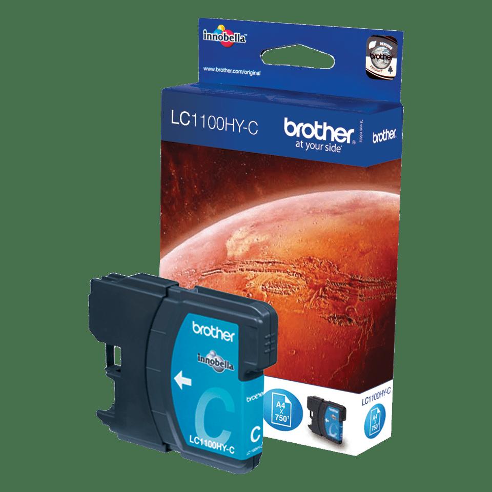 Originele Brother LC-1100HYC cyaan inktcartridge met hoge capaciteit 2
