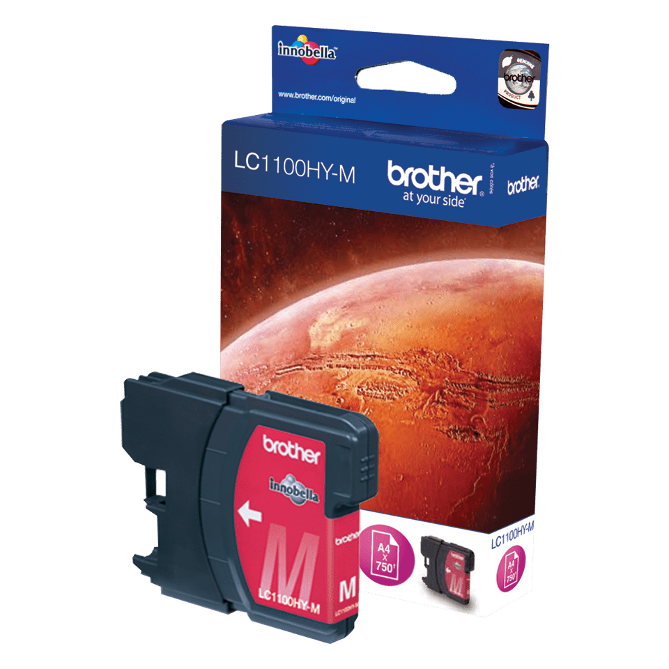 Originele Brother LC-1100HYM magenta inktcartridge met hoge capaciteit 2