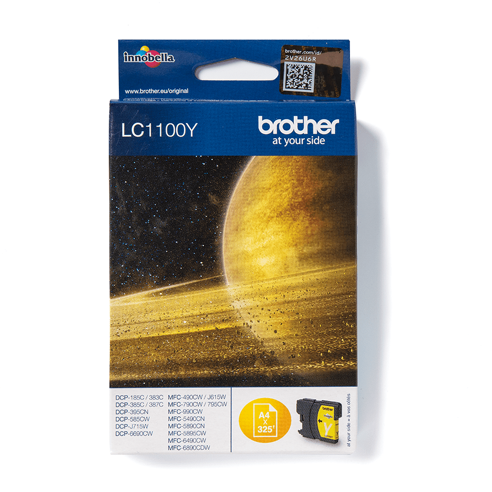 Genuine Brother LC1100Y Ink Cartridge – Yellow