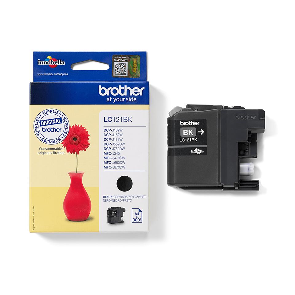 Originele Brother LC-121BK zwarte inktcartridge 2