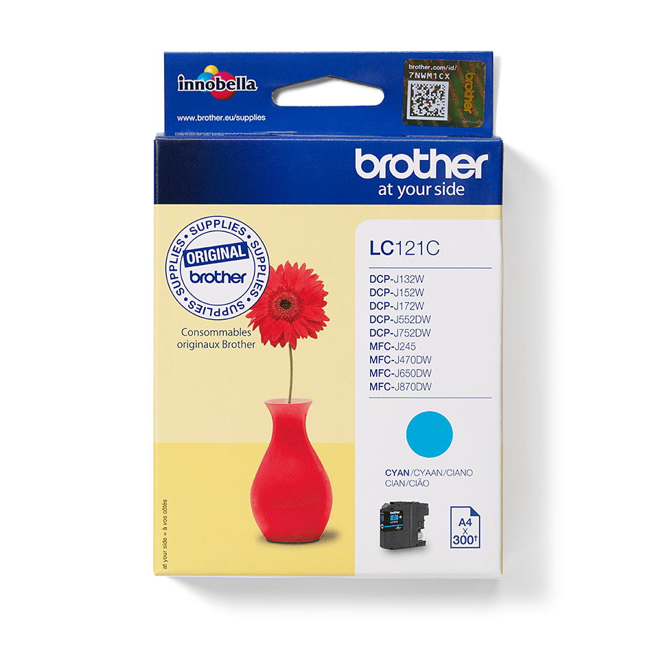 Originele Brother LC-121C cyaan inktcartridge
