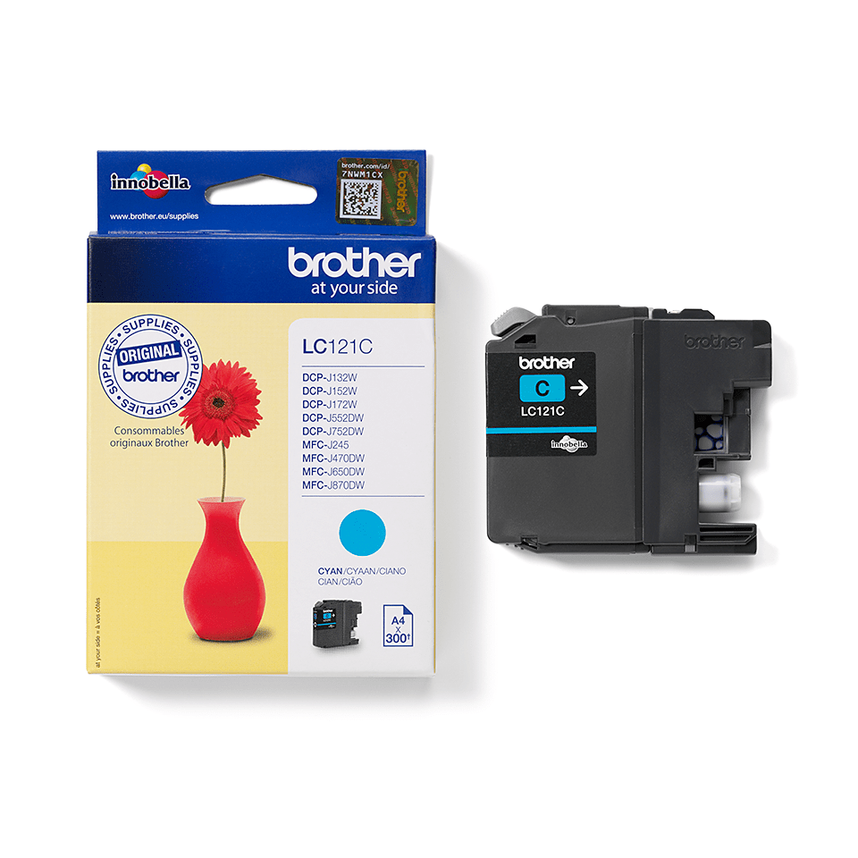 Originele Brother LC-121C cyaan inktcartridge 2