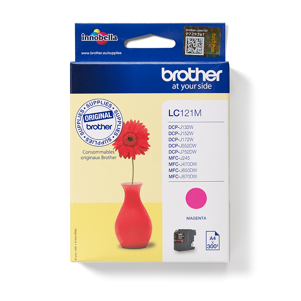 Originele Brother LC-121M magenta inktcartridge 2