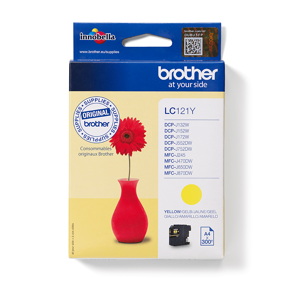 Originele Brother LC-121Y gele inktcartridge
